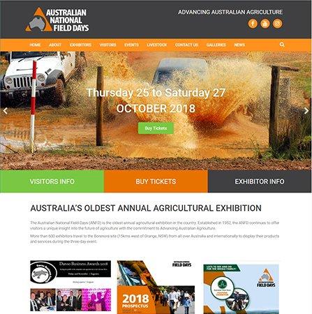 Australian National Field Days Website
