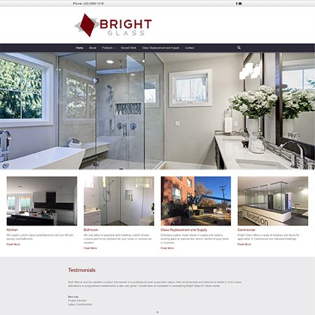 Bright Glass Website