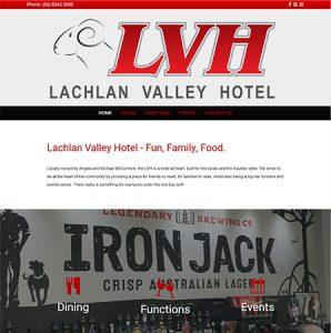 Lachlan Valley Hotel Website