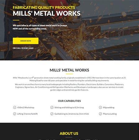 Mills' Metalwork Website
