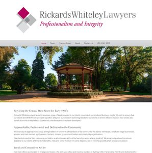 Rickards Whiteley Lawyers Website