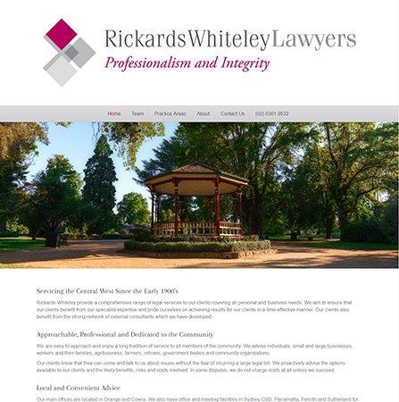 Rickards Whiteley Lawyers Website